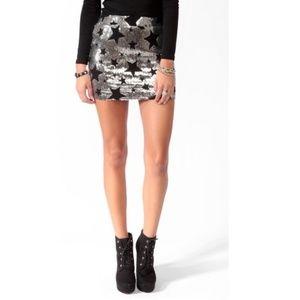 Forever 21 Sequined Star Mini Skirt